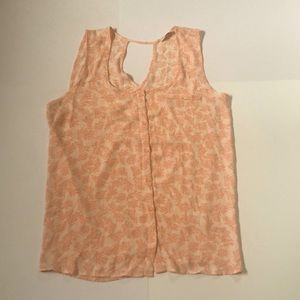 Reitmans Sleeveless Coral Patterned Top